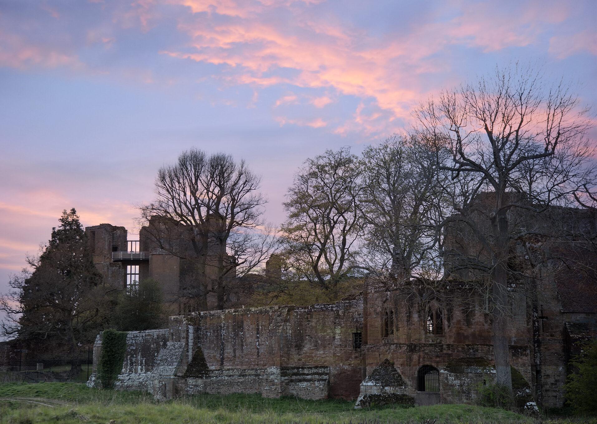 Sunset over Kenilworth Castle